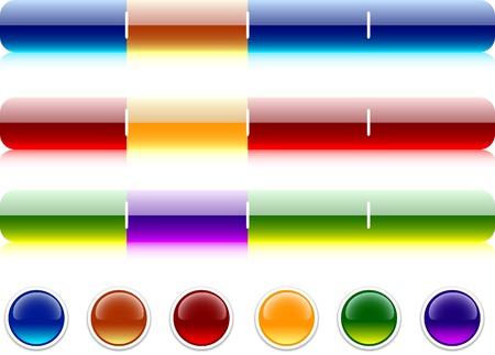 Internet shiny buttons. Vector illustration. Stock Vector - 4530211