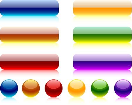 Internet shiny buttons. Vector illustration. Stock Vector - 4530214