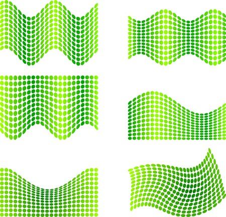 Six half-tone backgrounds. Vector illustration.  Illustration