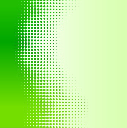 tone: Green half-tone background. Vector illustration.