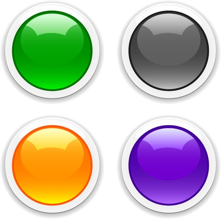 Internet shiny buttons. Vector illustration.  Stock Vector - 4530210