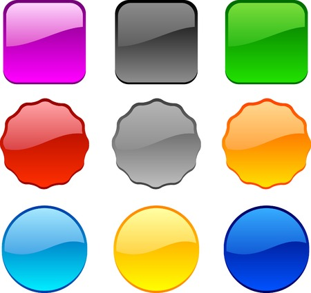 Internet shiny buttons. Vector illustration.  Stock Vector - 4530213