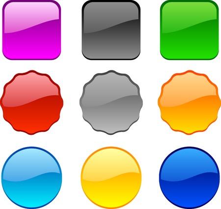 Internet shiny buttons. Vector illustration. Stock Vector - 4530213