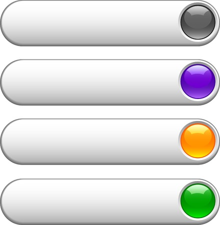 buttons: Internet lucido pulsanti. Vector illustration.