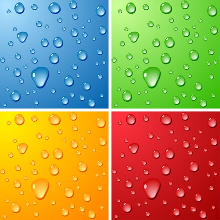 Color Wet surfaces. Vector illustration. Stock Vector - 4537277