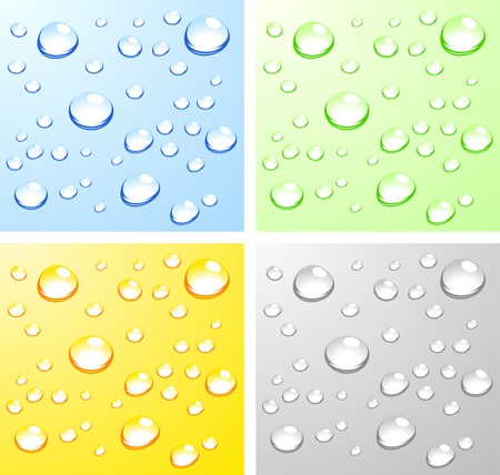 Color Wet surfaces. Vector illustration. Vector