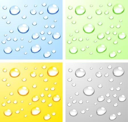 dews: Color Wet surfaces. Vector illustration.