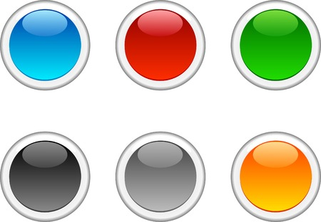 Internet shiny buttons. Vector illustration.  Stock Vector - 4537271