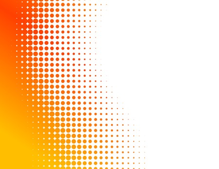 Orange half-tone background. Vector illustration.