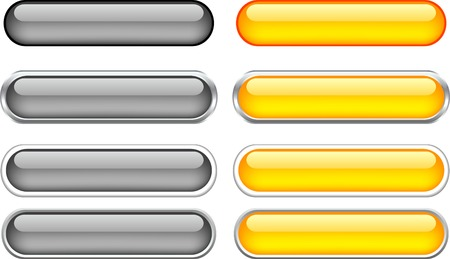 Internet shiny buttons. used mesh.  Vector