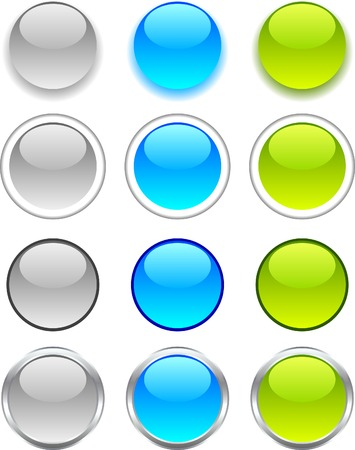Internet shiny buttons. Vector illustration. Stock Vector - 4564420
