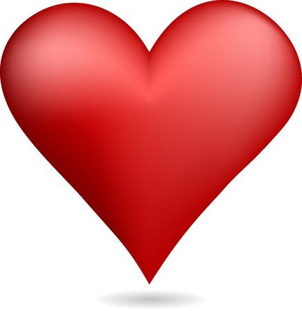 Rood hart symbool. Vector illustratie.