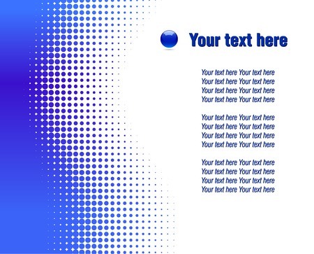 halftone: Blue half-tone background. Vector illustration.