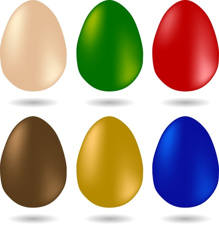 Set of easter eggs. Used mesh. Vector