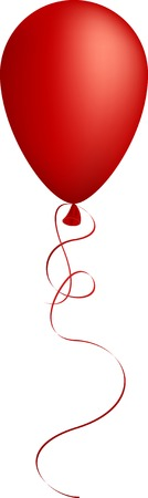 strings: Realistic red balloon. Used mesh.
