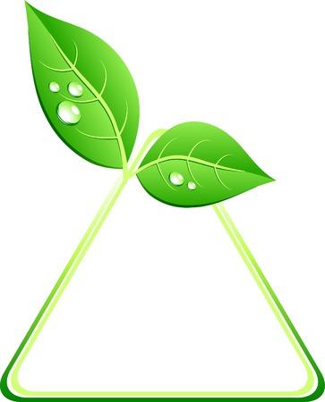 Green ecology background. Vector illustration. Stock Vector - 4688948