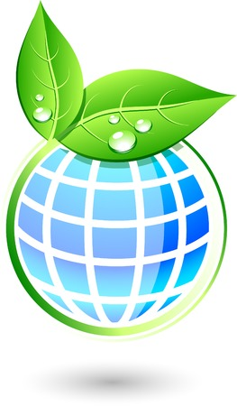 icono ecologico: Ecol�gico �nico icono. Ilustraci�n vectorial. Vectores