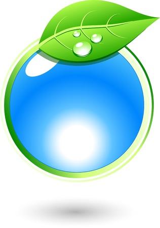 Single eco icon. Vector illustration. Stock Vector - 4715824