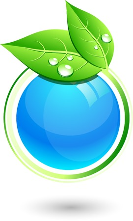 Single eco icon. Vector illustration.  Vector
