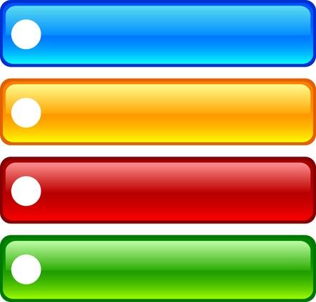 rec:  REC glossy buttons. Vector illustration.  Illustration