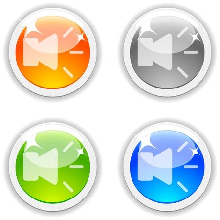 Speaker  realistic buttons. Vector illustration. Stock Vector - 4767526