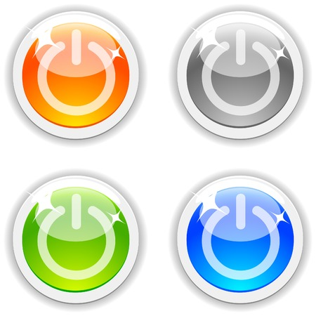 On/off realistic buttons. Vector illustration. Stock Vector - 4767537
