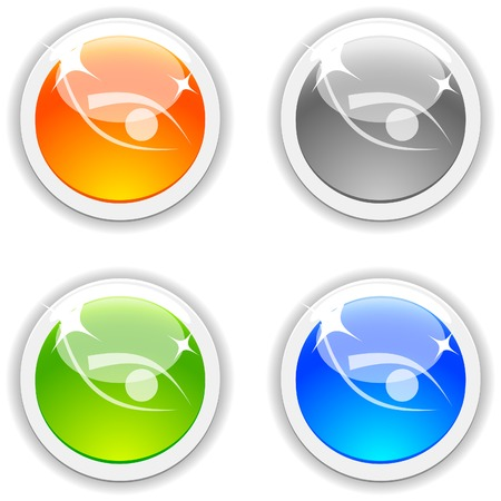 Eye realistic buttons. Vector illustration.  Vector