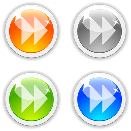 Forward realistic buttons. Vector illustration. Stock Vector - 4847888