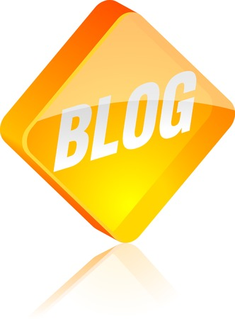 Blog glass button. Vector illustration.  Stock Vector - 4920671