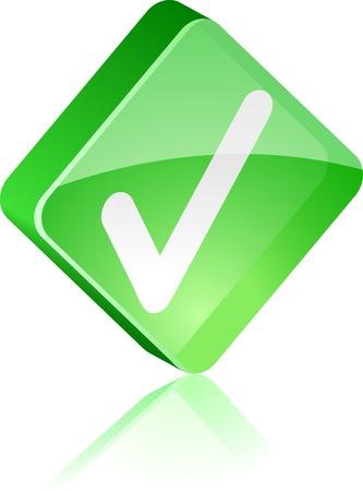 Validation glass button. Vector illustration.  Vector
