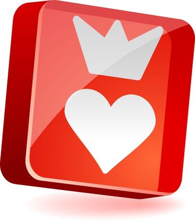 sweetheart: Sweetheart 3d icon. Vector illustration.