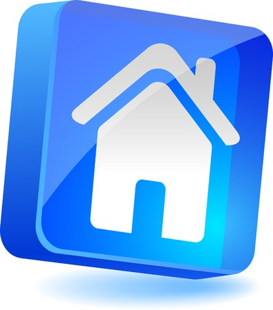 Home 3d icon. Vector illustration. Stock Vector - 4935329