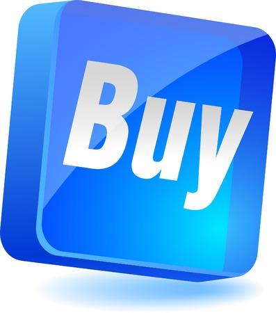Buy 3d icon. Vector illustration. Stock Vector - 4939891