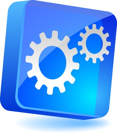 Settings 3d icon. Vector illustration. Stock Vector - 4939878