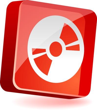 CDDVD 3d icon. Vector illustration. Stock Vector - 4939875