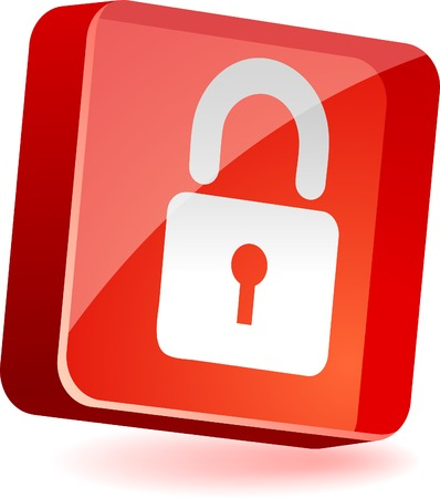 Padlock 3d icon. Vector illustration.  Stock Vector - 4939884