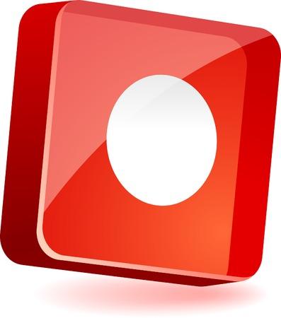 rec: Rec 3d icon. Vector illustration.