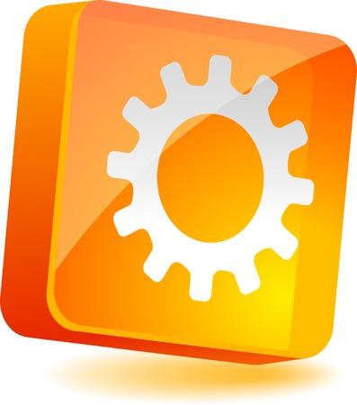 Settings 3d icon. Vector illustration. Stock Vector - 4939911