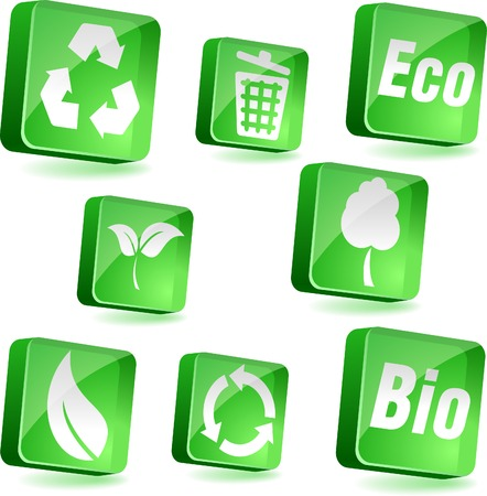 Ecology 3d icons. Vector illustration. Stock Vector - 4939929