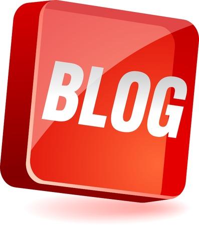 blogging: Blog 3d icon. Vector illustration.  Illustration