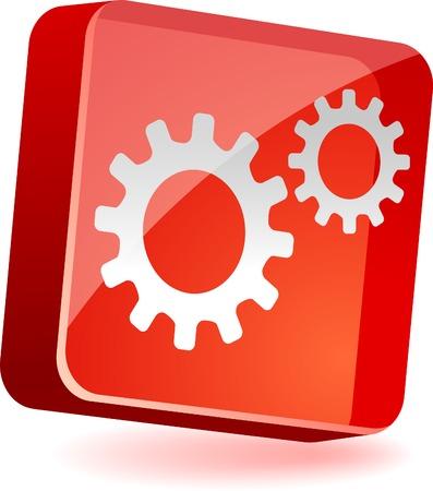 Gear 3d icon. Vector illustration. Stock Vector - 4939984