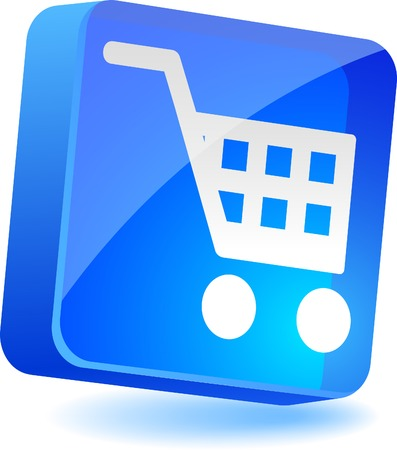 Shopping 3d icon. Vector illustration.  Vector