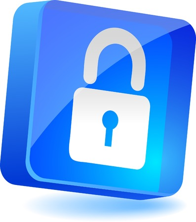 Padlock 3d icon. Vector illustration.  Stock Vector - 4939934