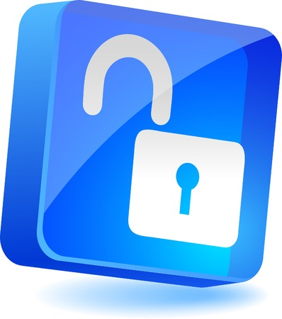 Padlock 3d icon. Vector illustration.  Stock Vector - 4939977