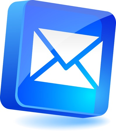 vector message: Mail 3d icon. Vector illustration.  Illustration