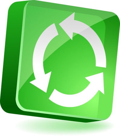 Recycle 3d icon. Vector illustration.  Stock Vector - 4939971