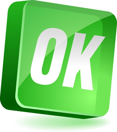 Ok 3d icon. Vector illustration. Stock Vector - 4939970