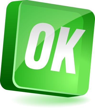 Ok 3d icon. Vector illustration. Stock Vector - 4939970