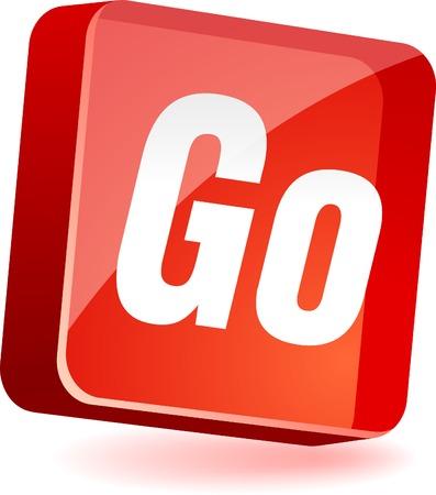 Go 3d icon. Vector illustration. Stock Vector - 4979579