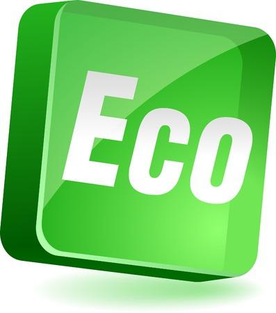 Eco 3d icon. Vector illustration. Stock Vector - 4979575